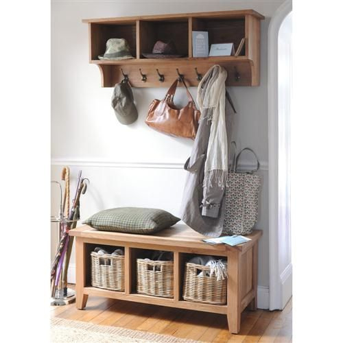 montague hall storage set with shoe bench coat hooks and cubby shelf only
