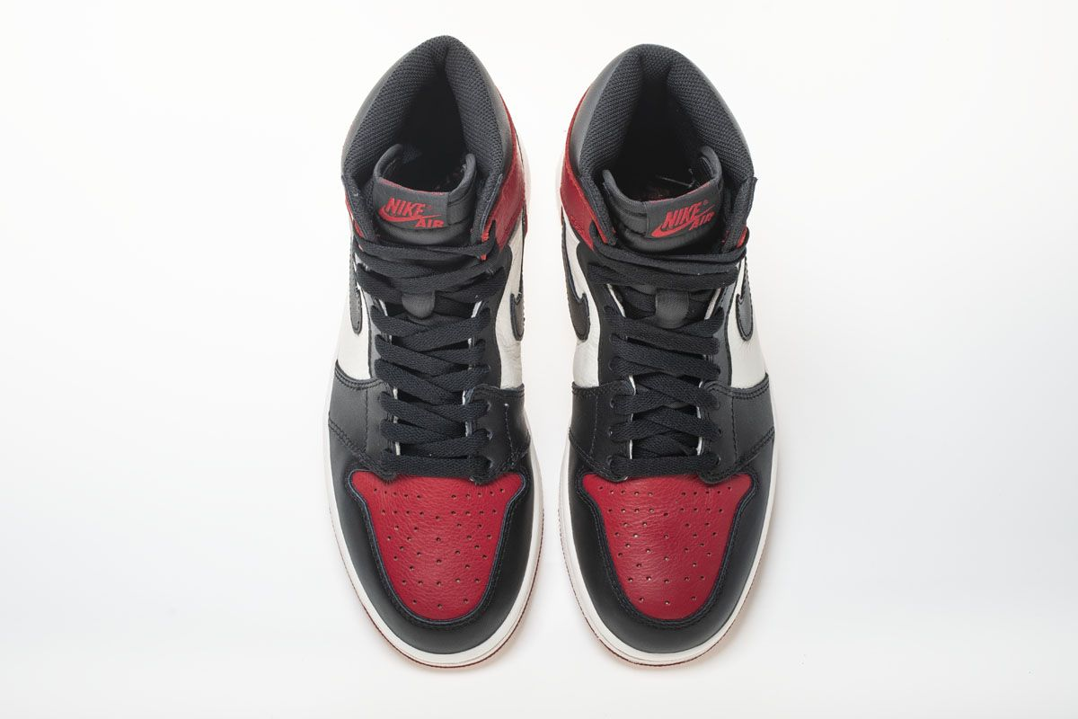 40ef219b2154d5 Air Jordan 1 Black Toe 2.0 555088-610 Basketball Shoes7