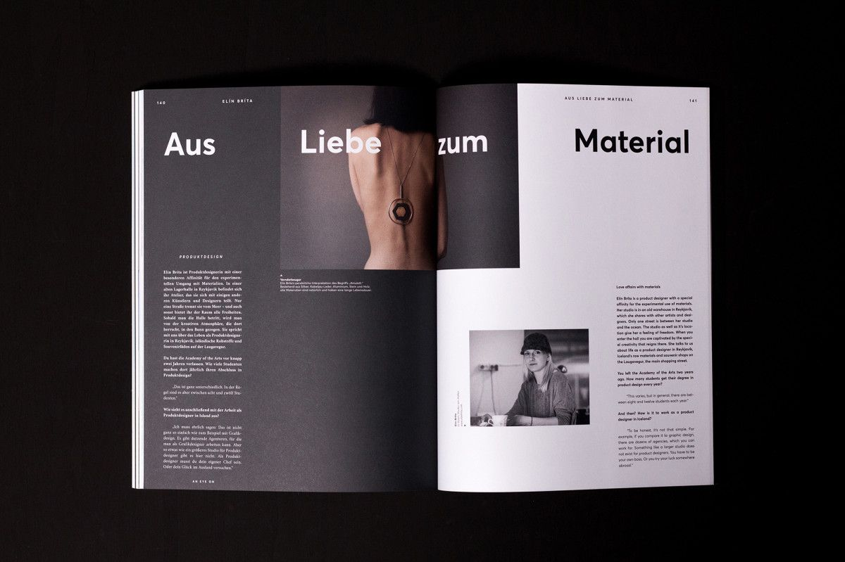 An Eye On – Magazin | Grafikdesign