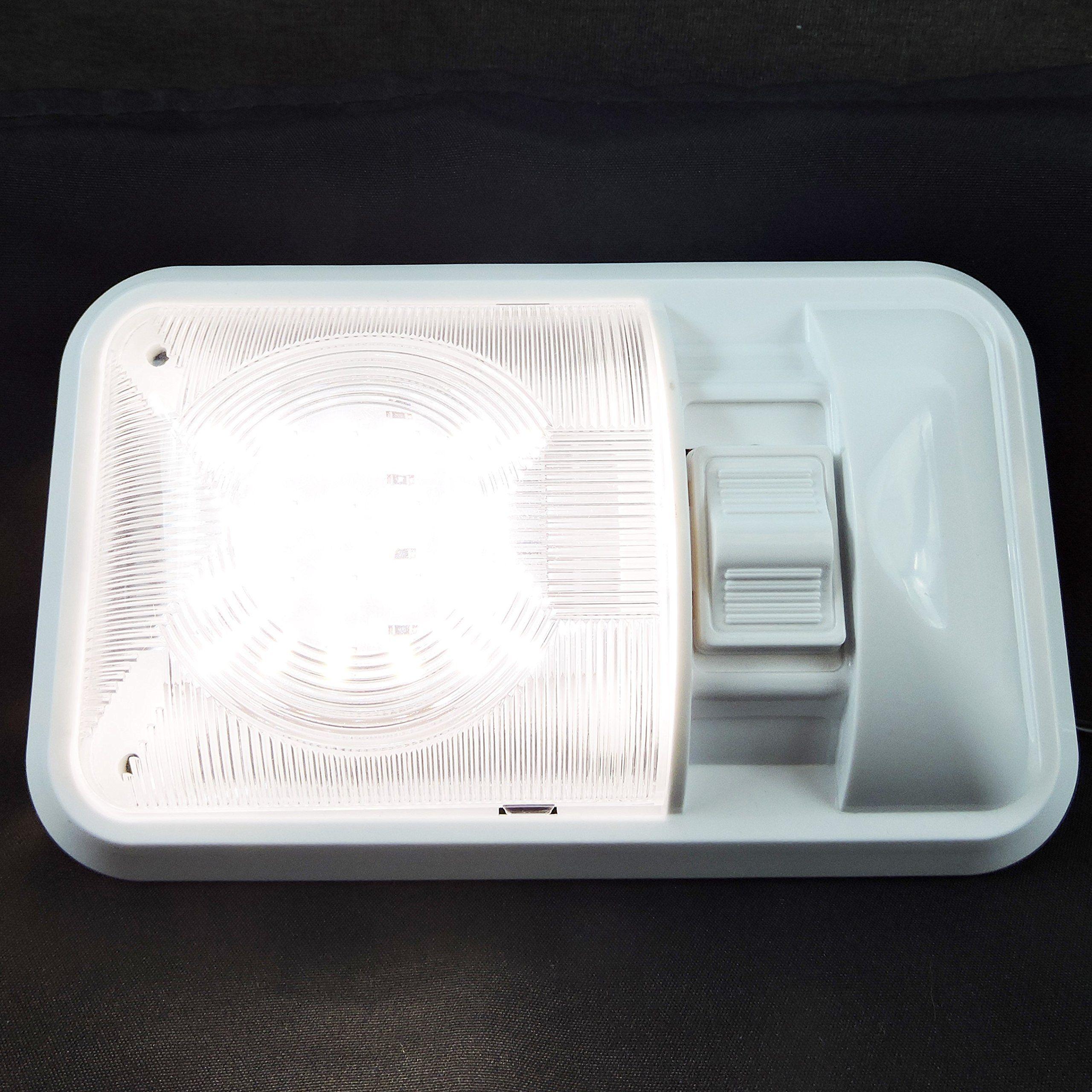 Leisure Led 2 Pack 12v Led Rv Ceiling Dome Light Rv Interior Lighting For Trailer Camper With Switch Single Dome Dome Lighting Interior Lighting Ceiling Domes
