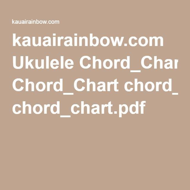 Kauairainbow Ukulele Chordchart Chordchartpdf Ukulele