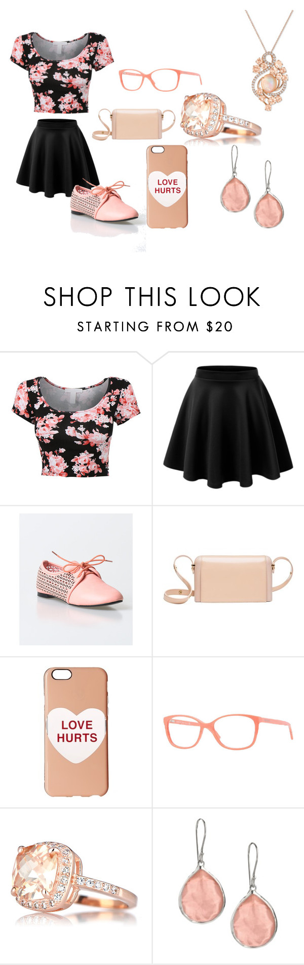 """""""All peach Every day"""" by adorimejohnson ❤ liked on Polyvore featuring beauty, Marni, Marc Jacobs, Versace, Ippolita and LE VIAN"""