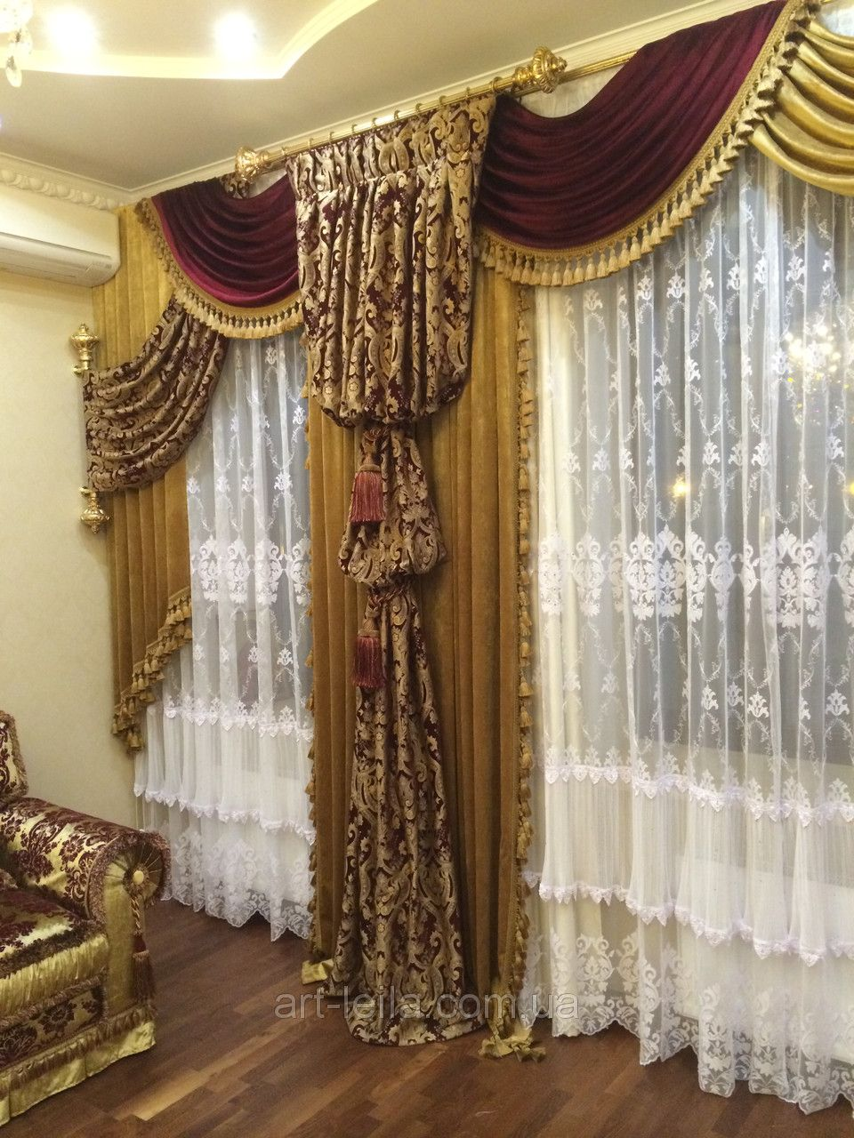 Ho how to tie balloon curtains - Classical Design But I Would Choose A Beige More Simple Chiffon