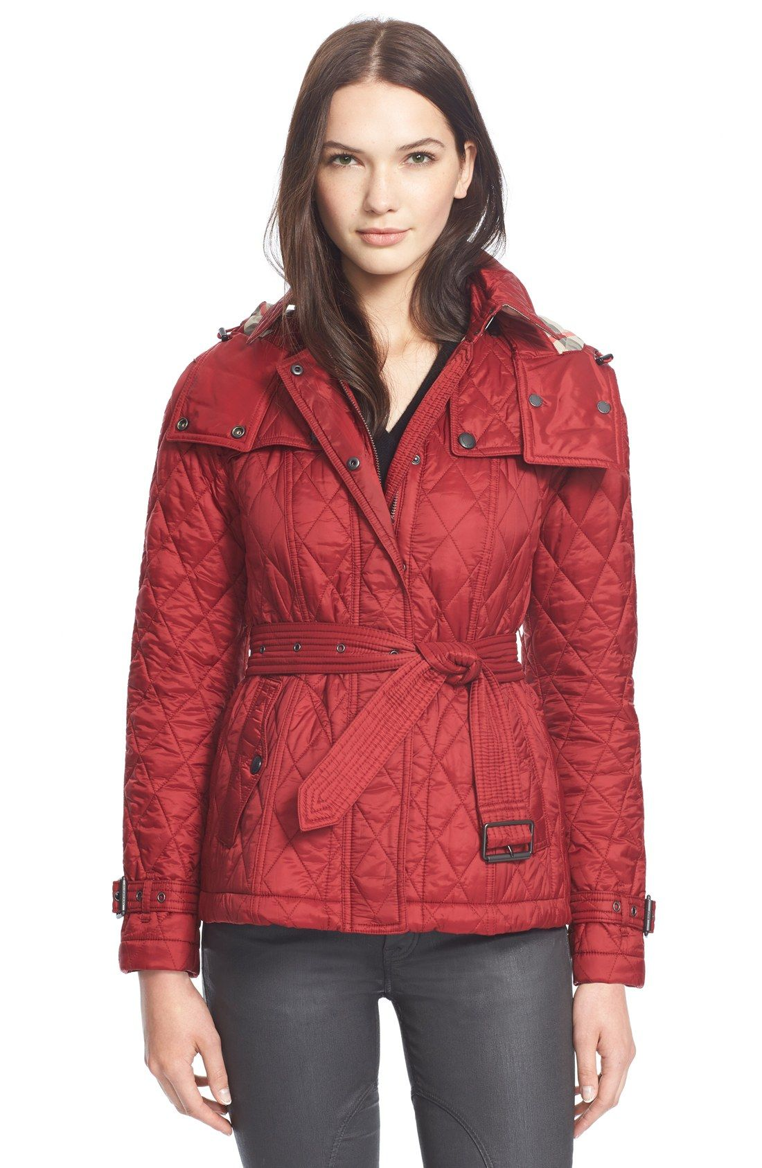 Burberry Brit 'Finsbridge' Short Quilted Jacket   My Personal ... : short quilted jacket with hood - Adamdwight.com