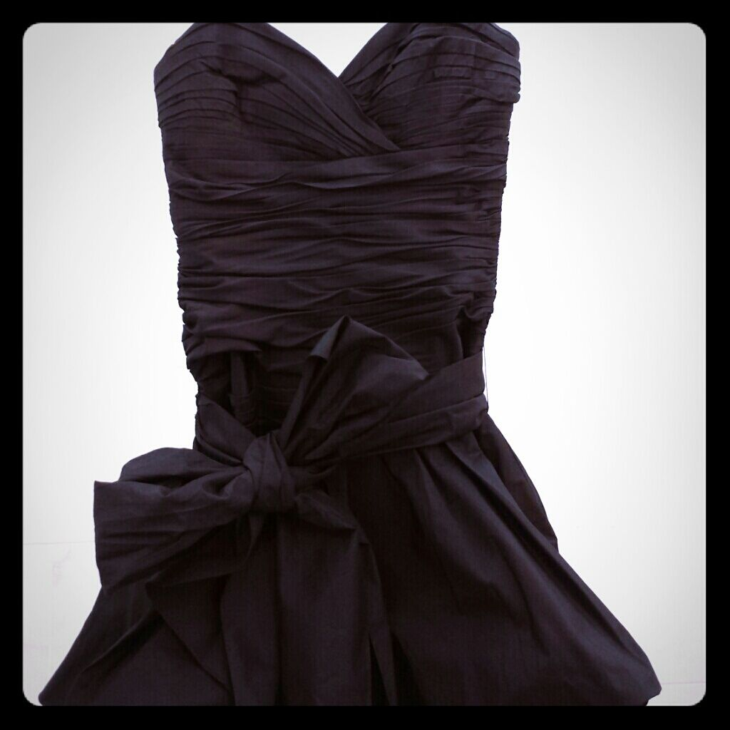 Bcbg silk dress with bow products