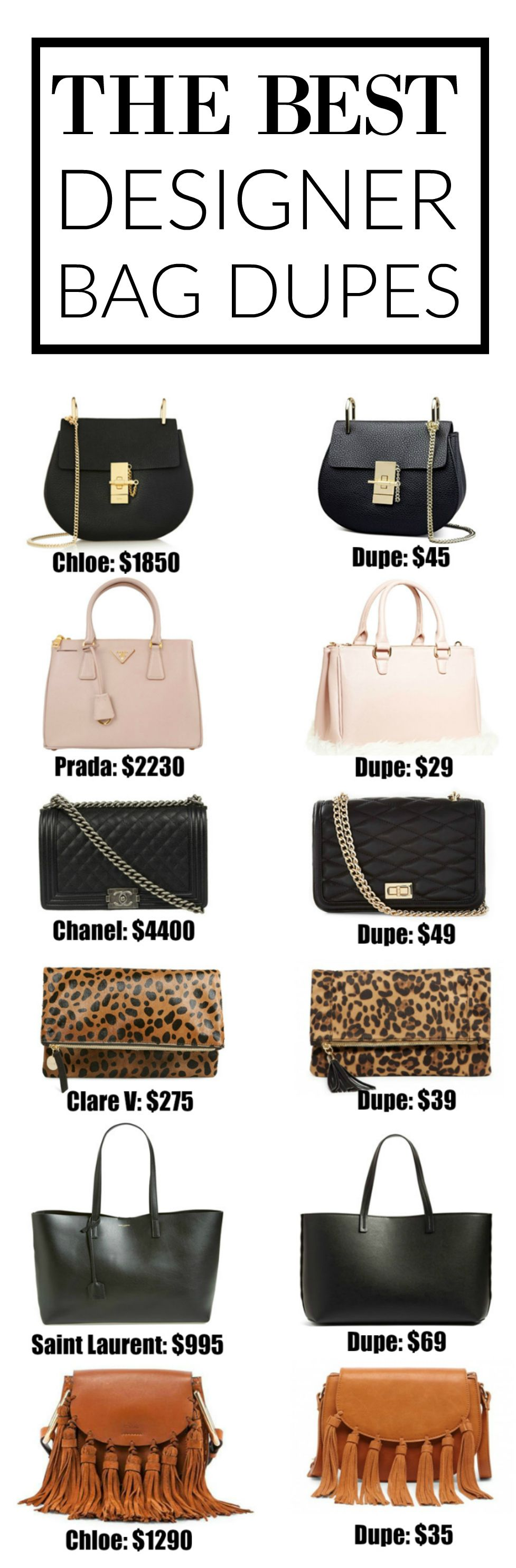 The Ultimate Designer Bag Dupes Guide | The InfluenceHer Collective ...