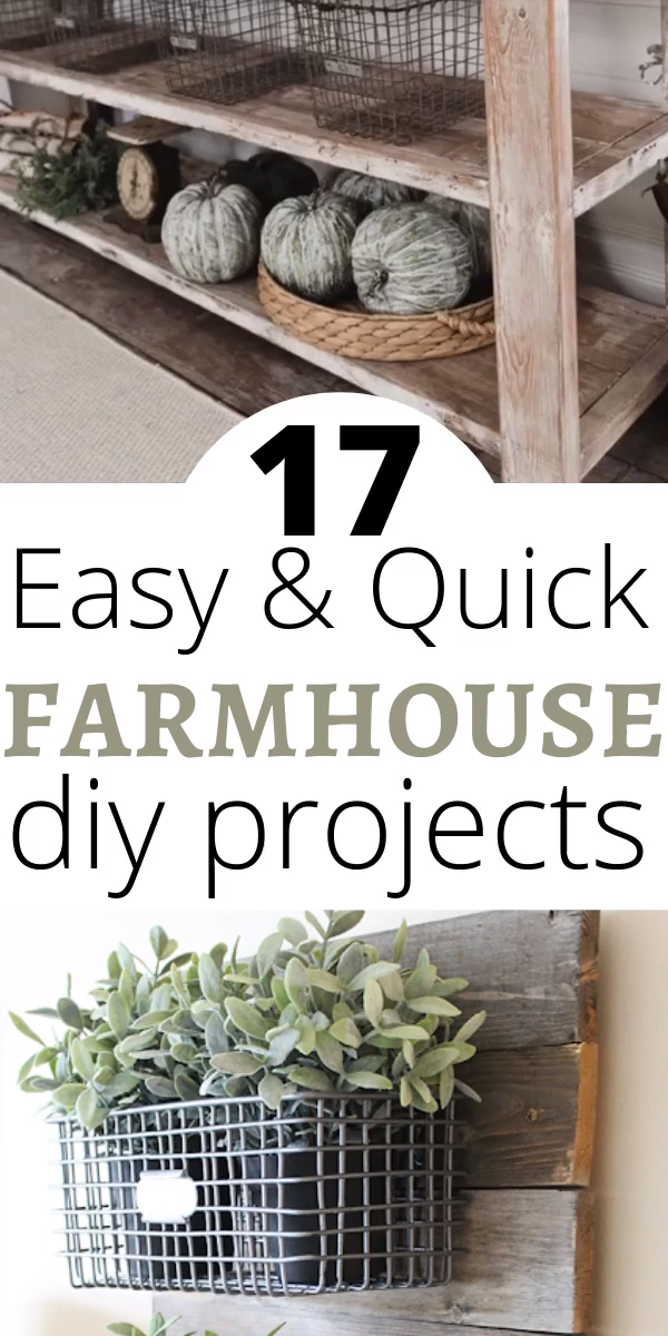 Photo of 17 Easy DIY Farmhouse Decor Projects