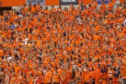 Syracuse Orange Basketball Fans At The Carrier Dome 2 1 14