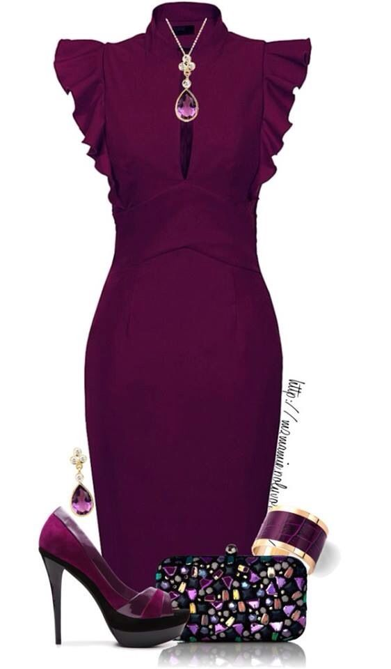 Purple cocktail dress and shoes