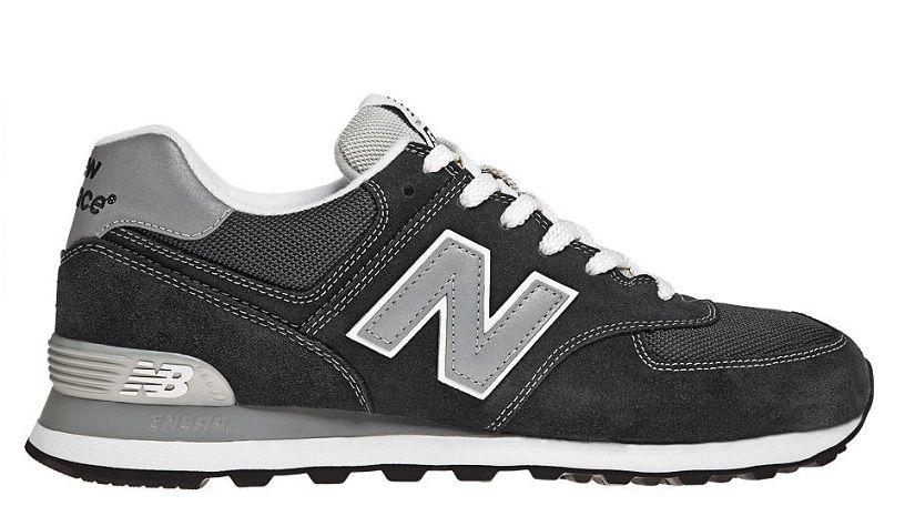 New Balance 574 Hommes De Course Noir Gris Blanc Pas Cher   574 ... 87e7403cc39f