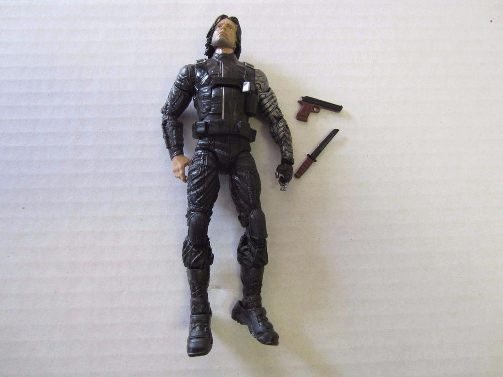 "Winter Soldier Action Figure 6 3/4"" Marvel Legends Black #Hasbro"