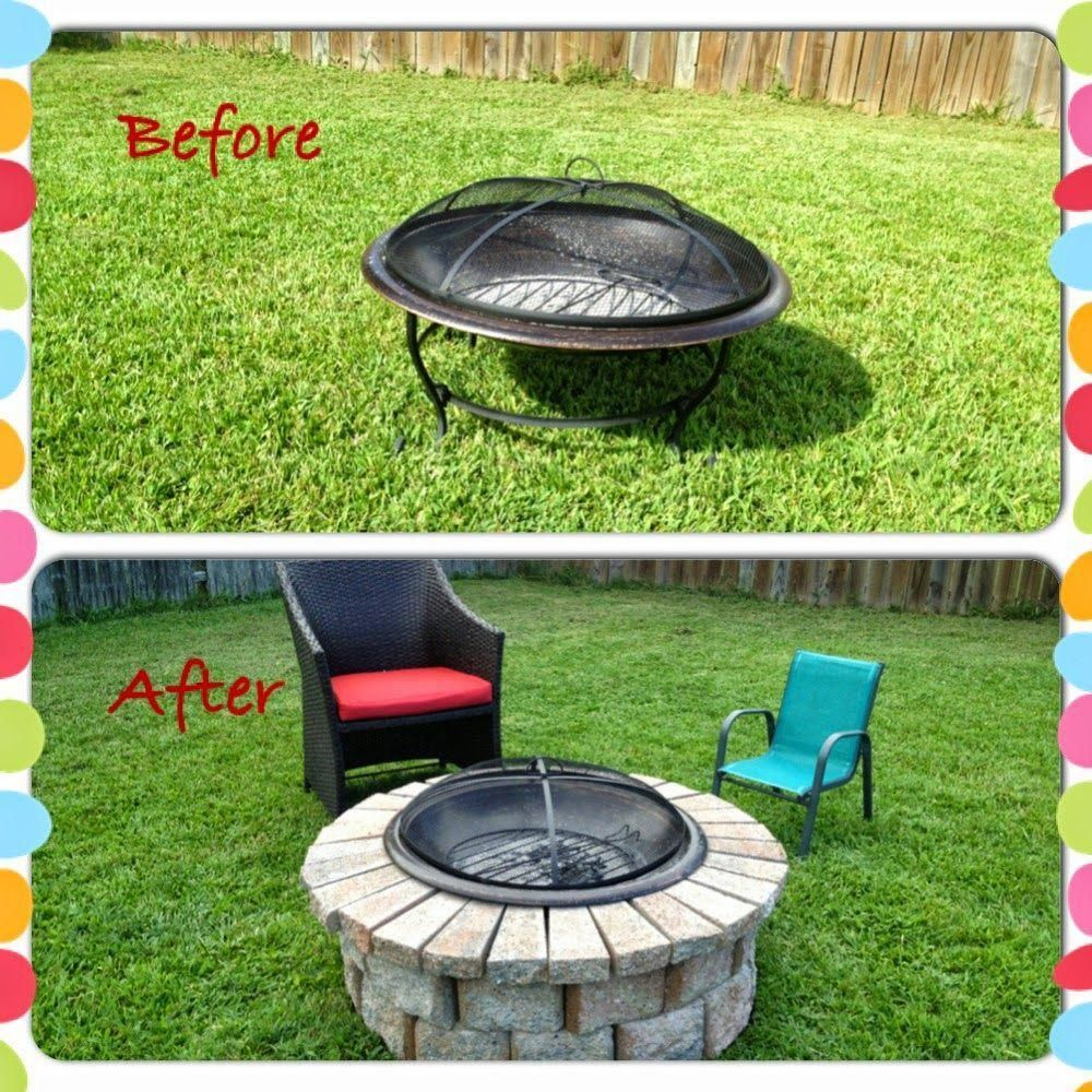 Photo of DIY stone metal fire pit firepit bricks #metal fire pits with chimney