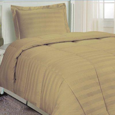 Fresh Ideas DreamSpace 3 Piece Comforter Set Size: Full/Queen, Color: Mocha