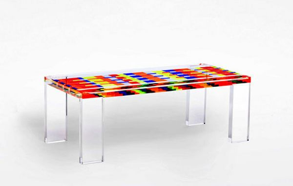mosaico table basse rectangulaire