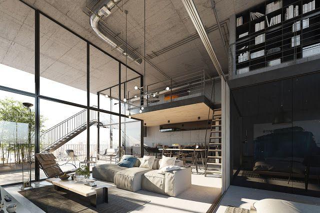 Virlova Interiorismo: [Project] Doble altura abierto al exterior