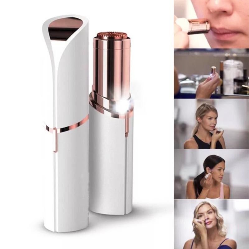 Female Mini Electric Hair Removal Epilator Lipstick Shape Shaving Shaver Lady Hair Remover For Women Body Face Facial Hair Removal Painless Hair Removal Best Hair Removal Products