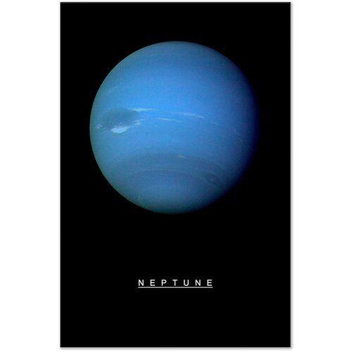 Neptun Grafik auf verpackter Leinwand East Urban Home Größe: 60 cm H x 40 cm B x T