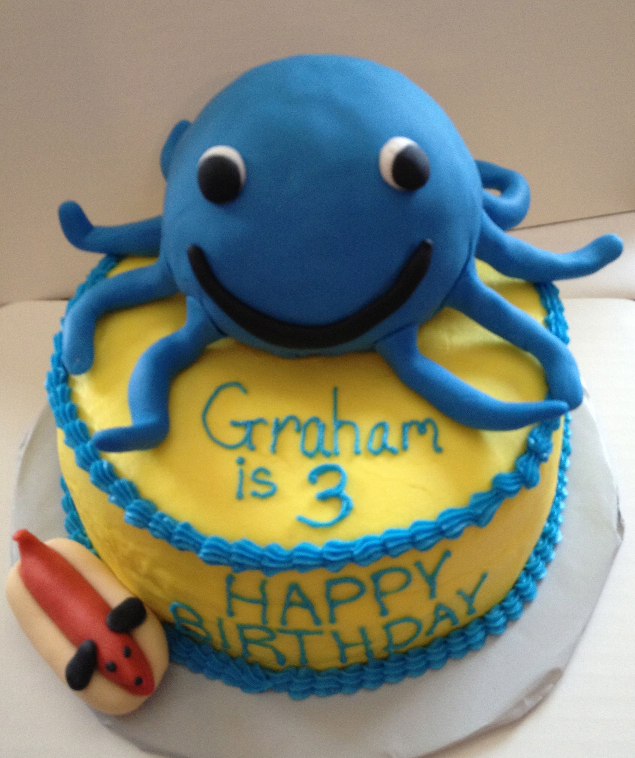 Magnificent Oswald Octopus Cake With Images Octopus Cake Nick Jr Birthday Funny Birthday Cards Online Alyptdamsfinfo