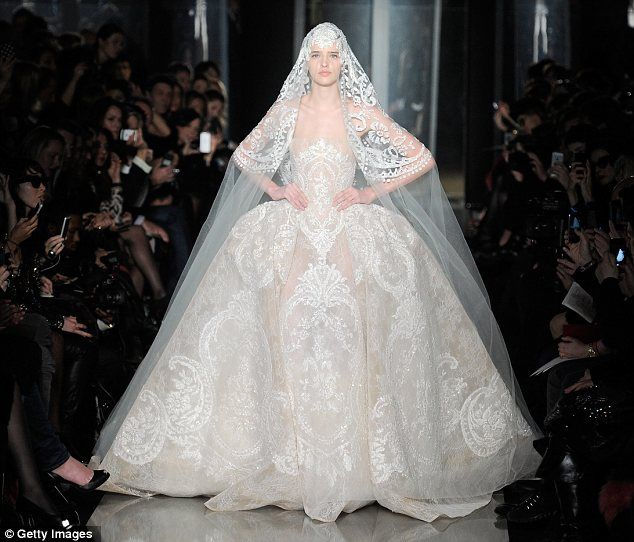 Metallic Embroidery Huge Hoop Skirts And Matching Brides Paris Couture Week Offers A Glimpse Of Wedding Dress Trends To Come