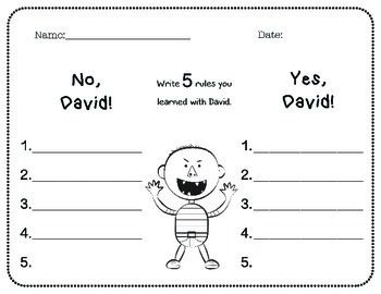 No David Activities No David David Shannon Teaching Skills