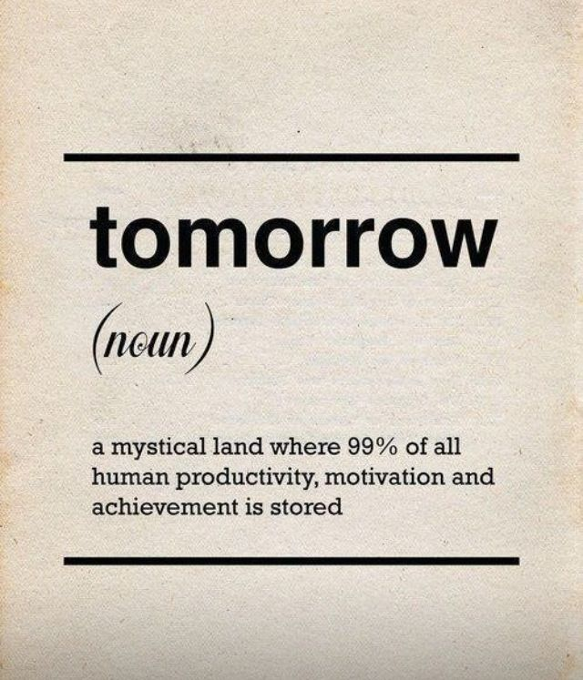 The real definition of tomorrow.