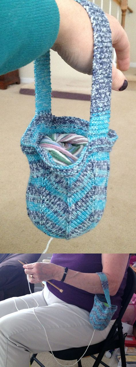 Free Knitting Pattern for Jaywalker Wrist Project Bag - Tandy Imhoff ...