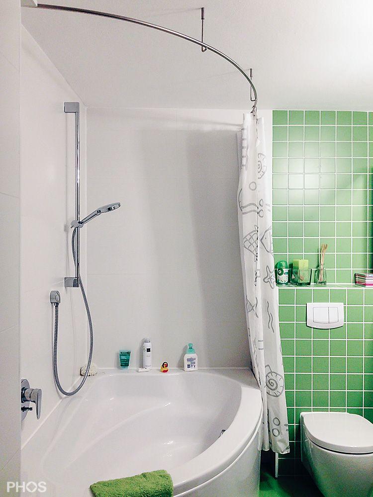 Gebogene Duschvorhangstange Fur Eckbadewanne Duschvorhangstange Dusche Eckbadewanne