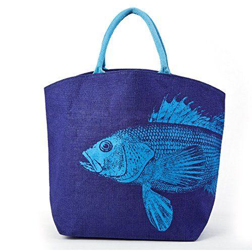 Blue Fish Beach Bag