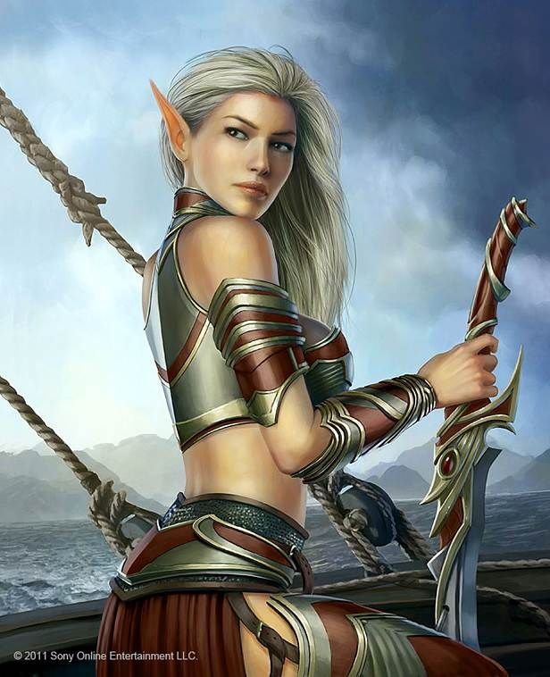 Curious.. sexy elf fantasy art