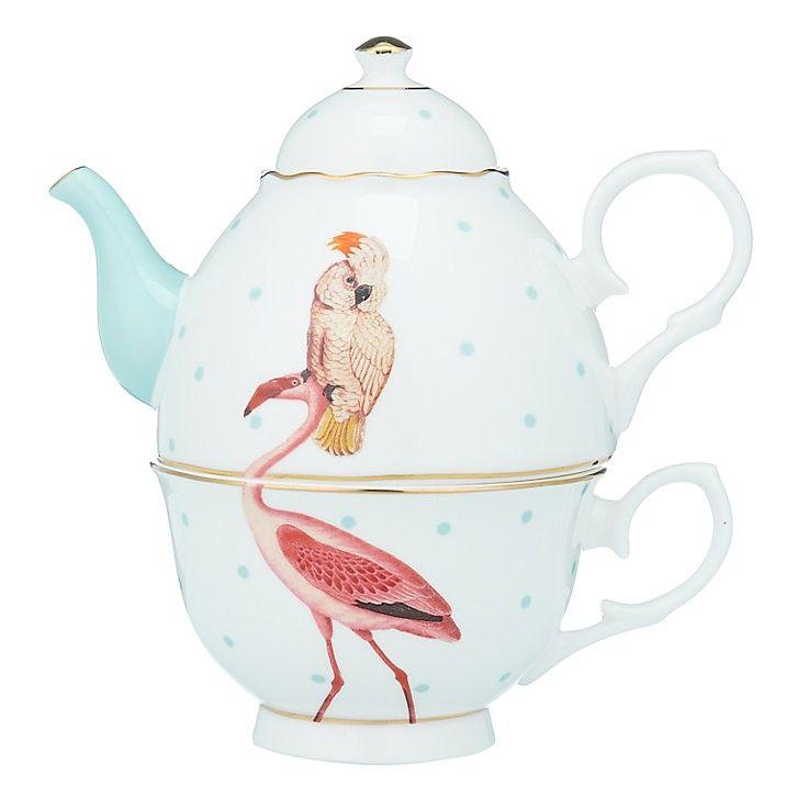 Grappige Tea For One Set Van Yvonne Ellen Een Afbeelding