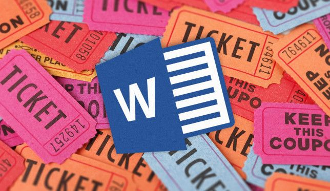 How to Get a Free Raffle Ticket Template for Microsoft Word - free ticket templates for microsoft word