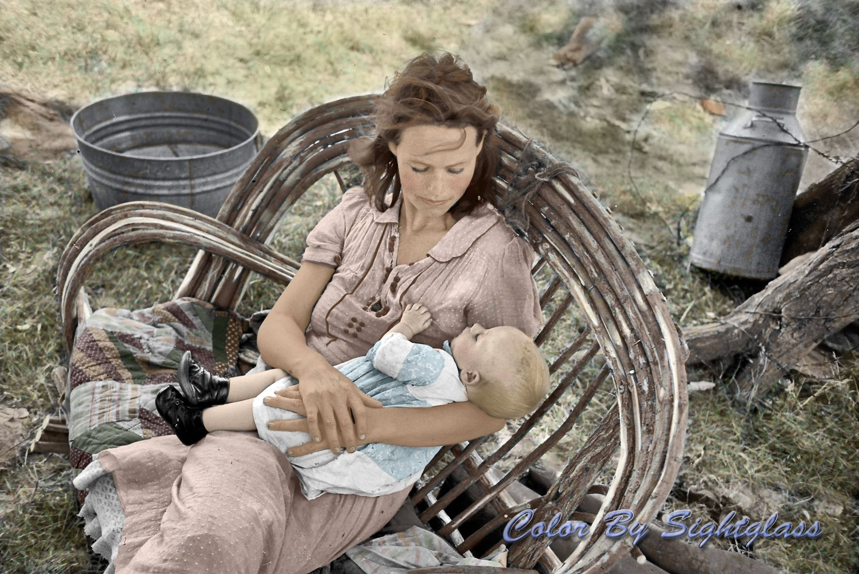 Dust bowl Dust bowl, Colorized photos, Mother and child