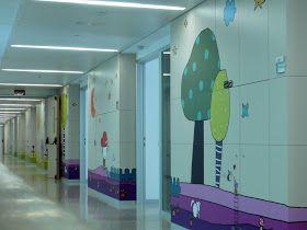 De nuevo con la Fundación curArte  estoy decorando zonas pediátricas. Éste es el Hospital de Burgos, rec...