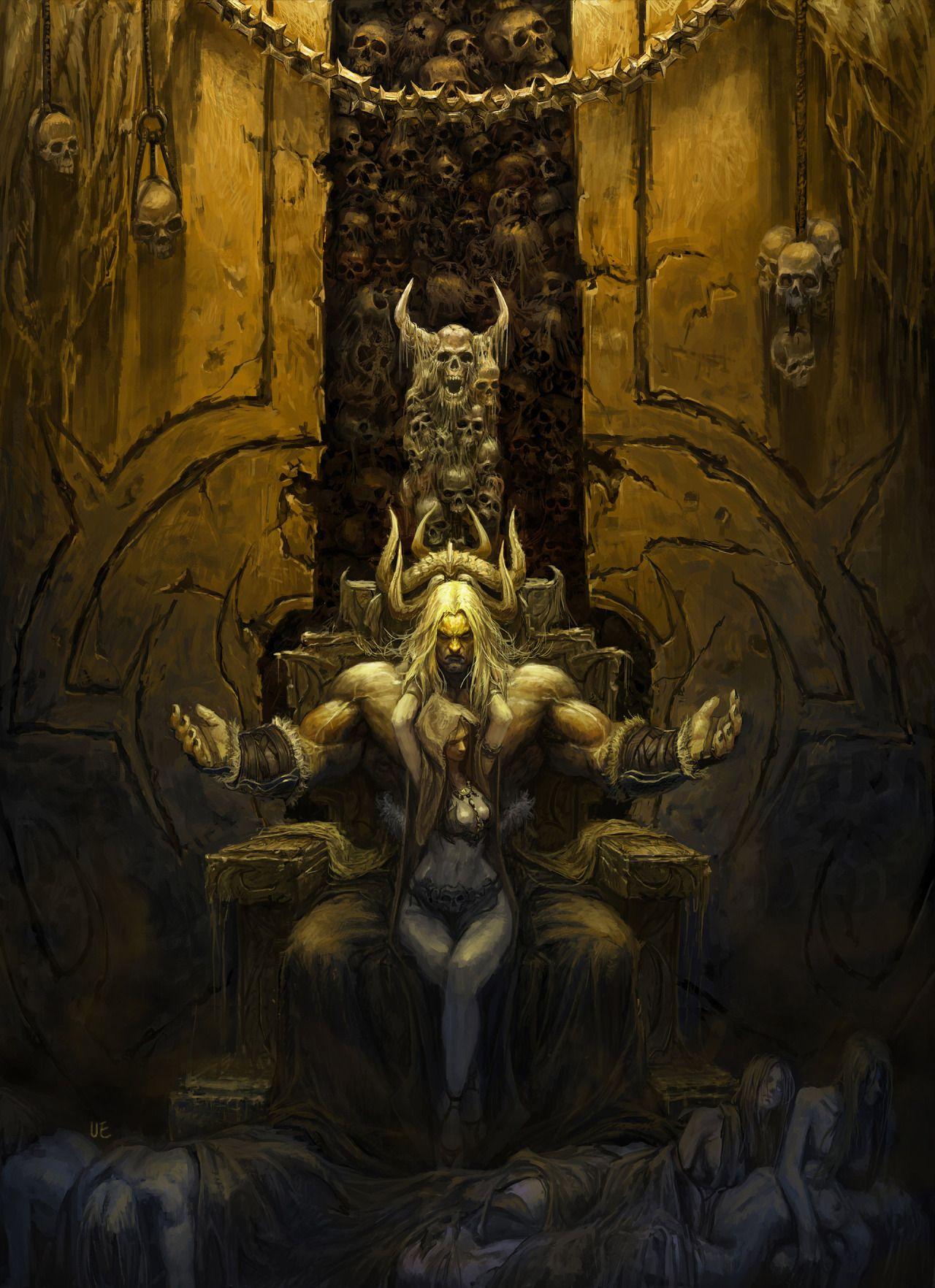 HD wallpaper: dark fantasy, fantasy art, skeleton, artwork