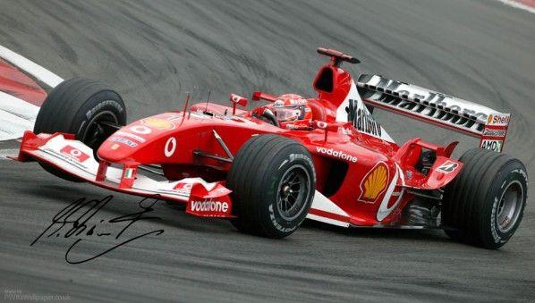 Michael Schumacher Ferrari F1 PS Vita Wallpaper
