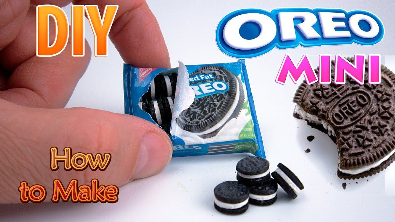 Diy miniature oreo cookies dollhouse no polymer clay