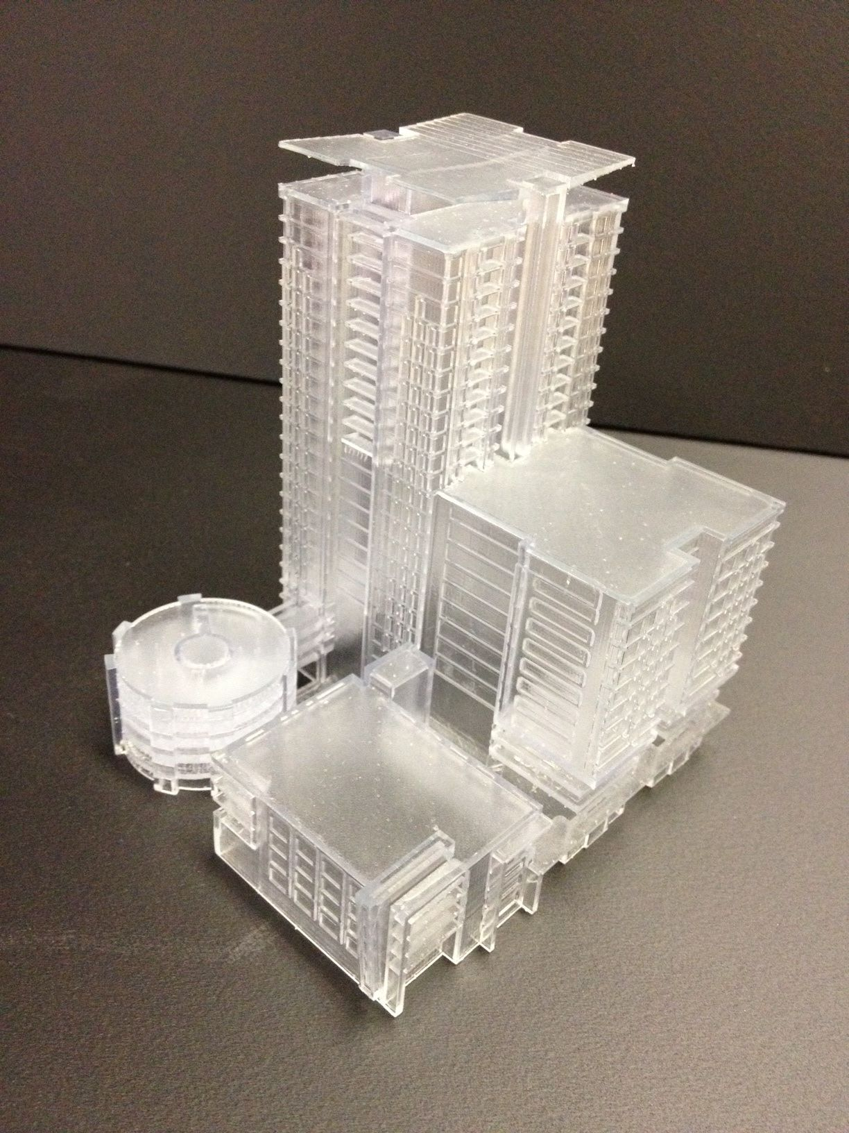 3D printing in clear resin 3d printing, Architecture