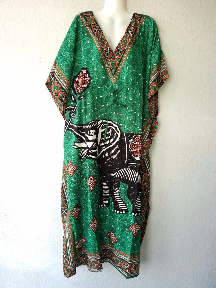Maxikleid Strandkleid Sommerkleid Kaftan Boho Goa Hippie Takshita Kimono Afrika
