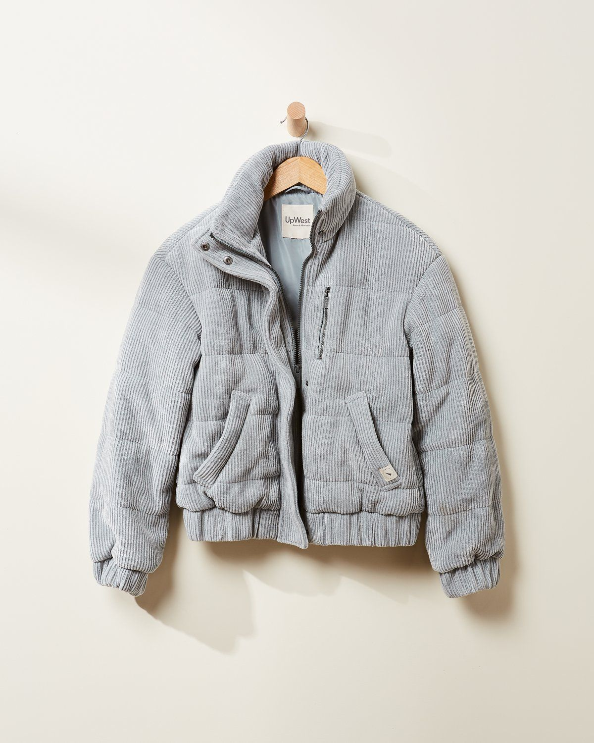The Cord Puffer Womens Jackets Casual Casual Jackets For Women [ 1500 x 1200 Pixel ]
