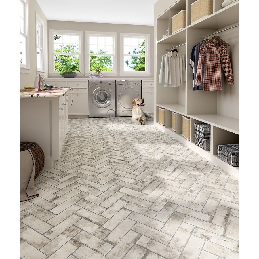 Style Selections Limited White Porcelain Floor And Wall
