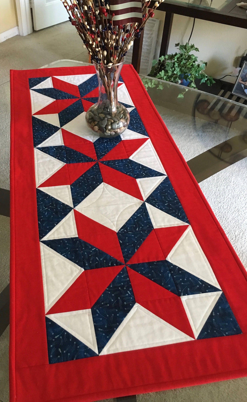 Patriotic Table Runner Pattern 1