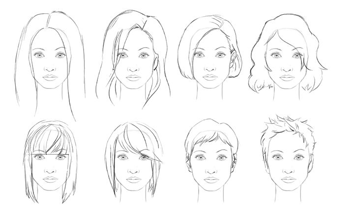 Admirable 1000 Images About Drawing Hair On Pinterest Drawings Hair Short Hairstyles Gunalazisus