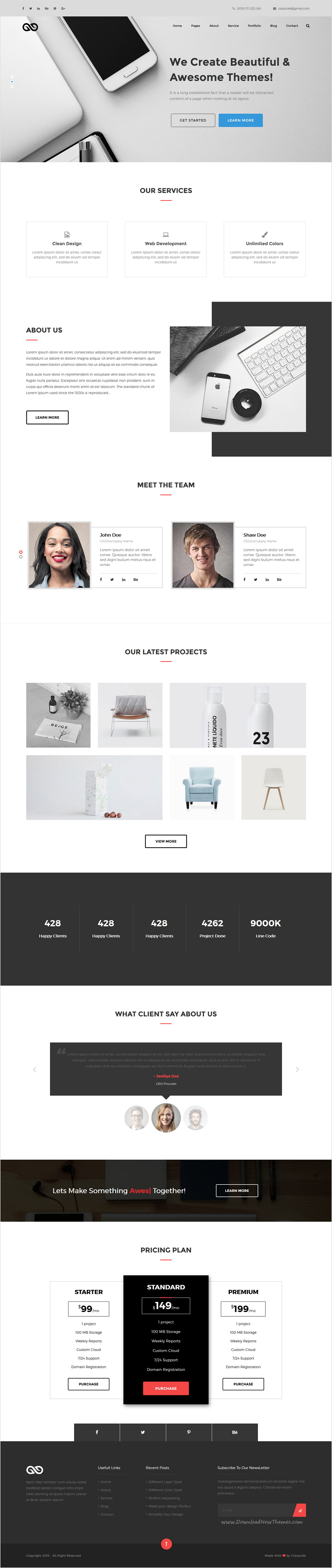 MIXED - Multipurpose Agency and Business Template | Template, Web ...