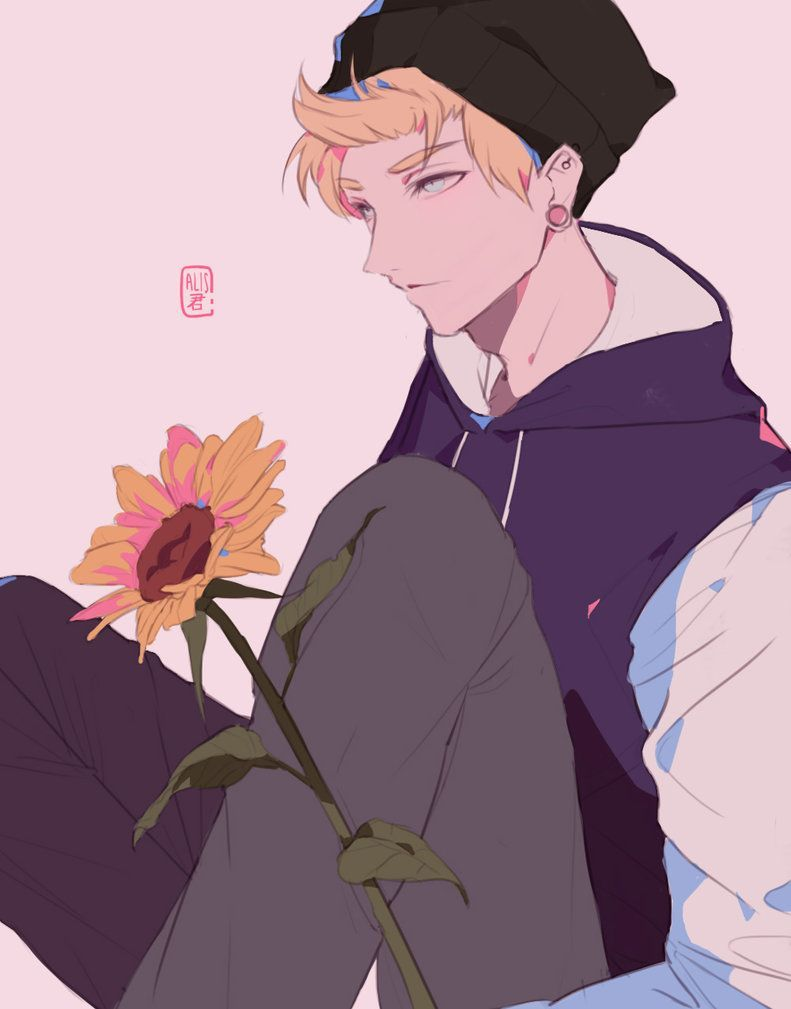 Sunflower Crush By Xxblurbunny Easy Drawings Sunflower Sunflower Crush By Xxblurbunny On Deviantart In 2020 Aesthetic Anime Sunflower Drawing Easy Drawings