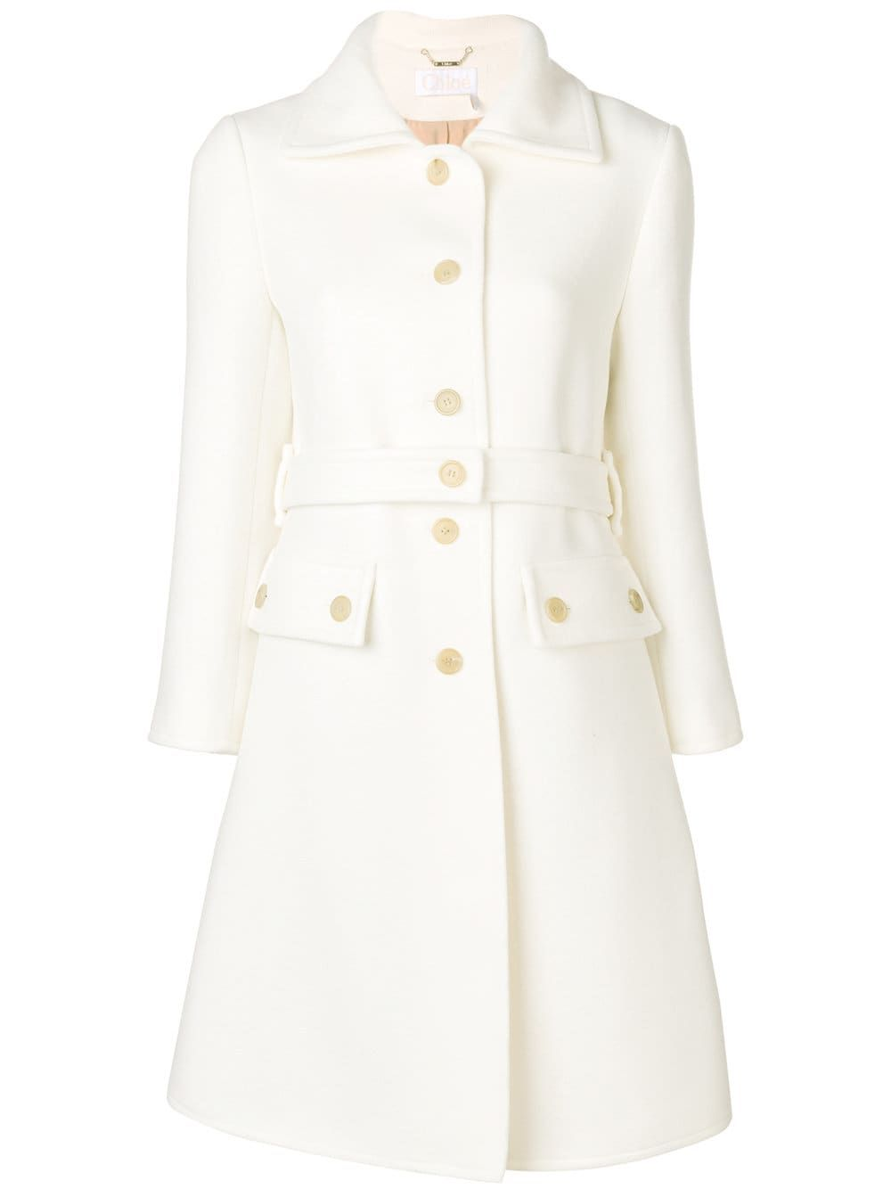 85a4479504 Chloé Single Breasted Belted Coat in 2019 | COATS | Gucci coat, Coat ...