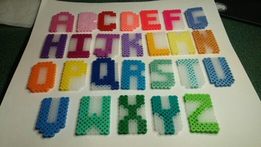 Alphabet (also avail numbers, no pic)