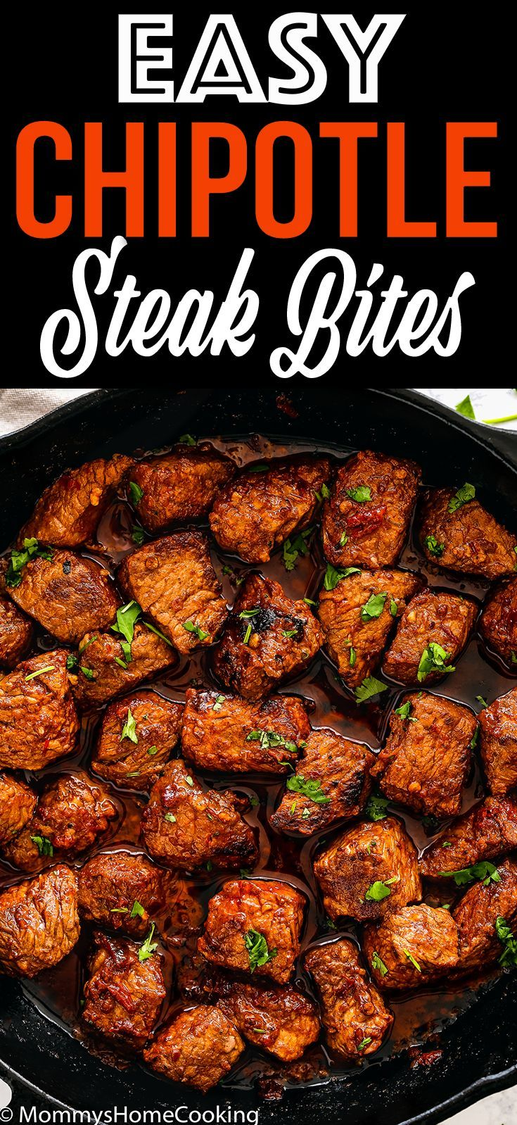 Easy Chipotle Steak Bites #beefsteakrecipe