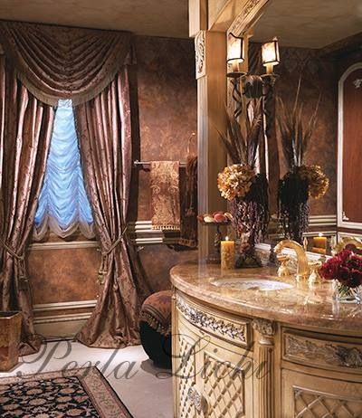 perla lichi designs | tuscan bathroom decor, tuscan