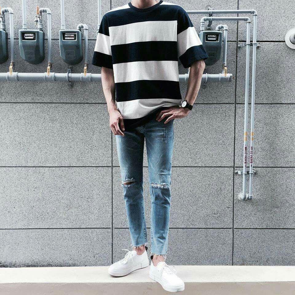 Oversized Tee #mensfashion  Korean fashion men, Men fashion