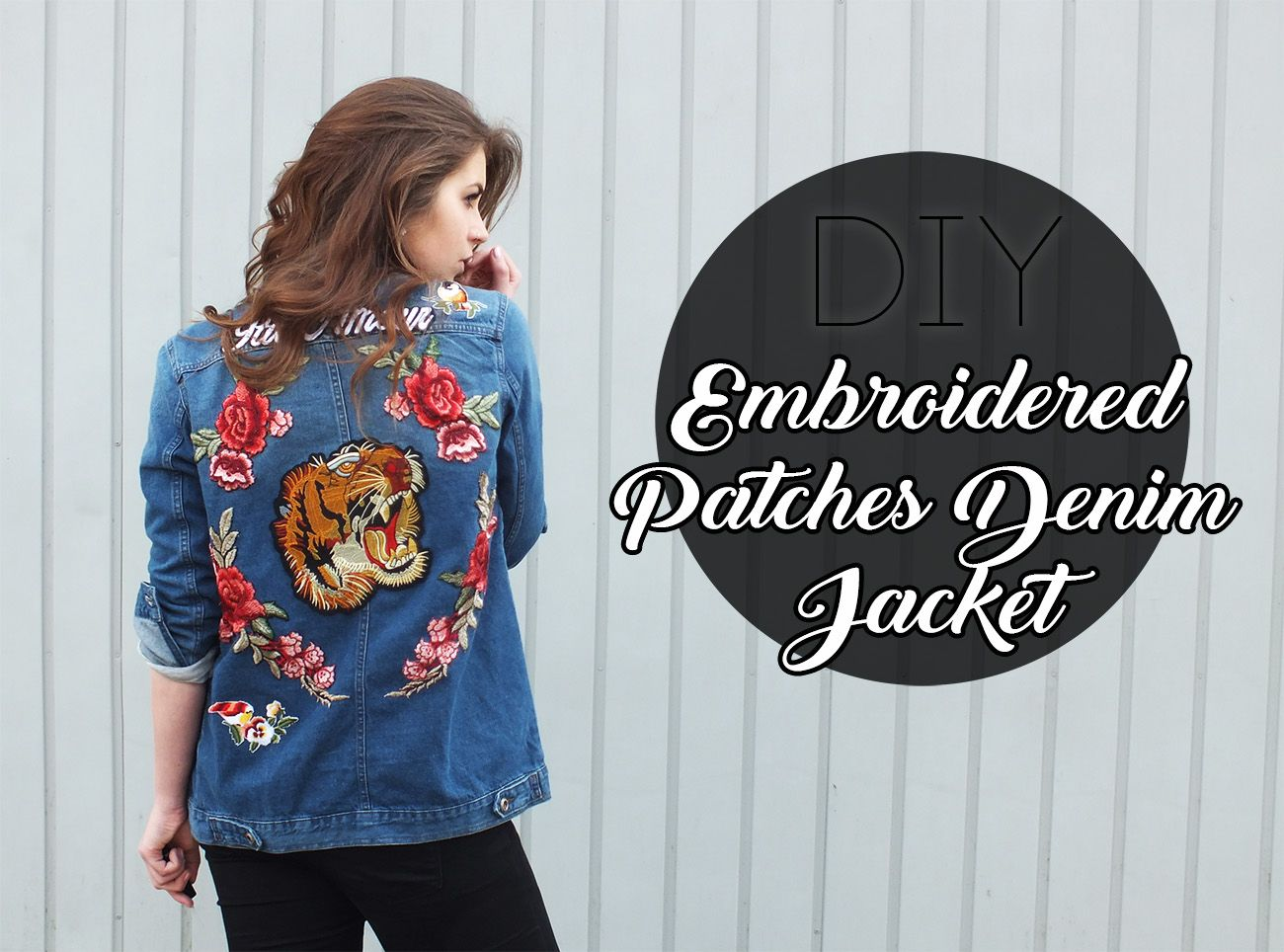7dc02b8c13c6 Fashion Love  DIY  PATCHES DENIM JACKET   INSPIRED BY GUCCI S S´ 17 ...